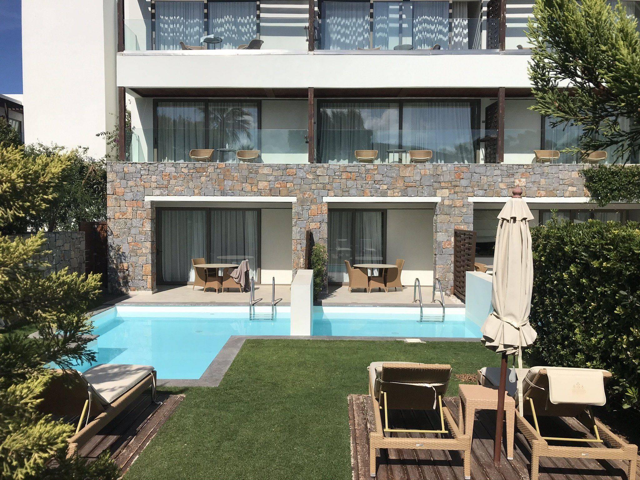 Kreta Amirandes private Pool Zimmer