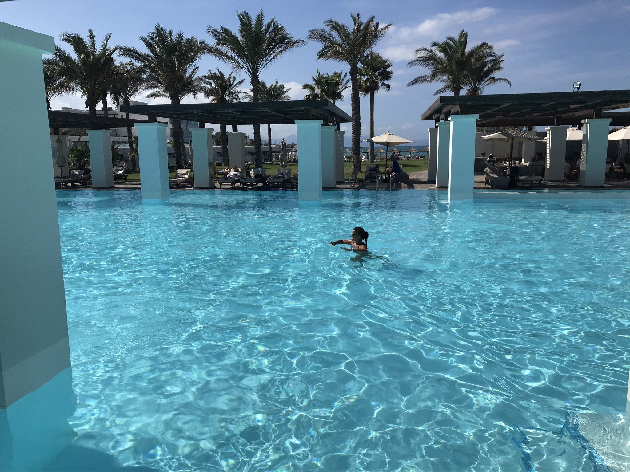Grecotel Amirandes Blick auf Pool