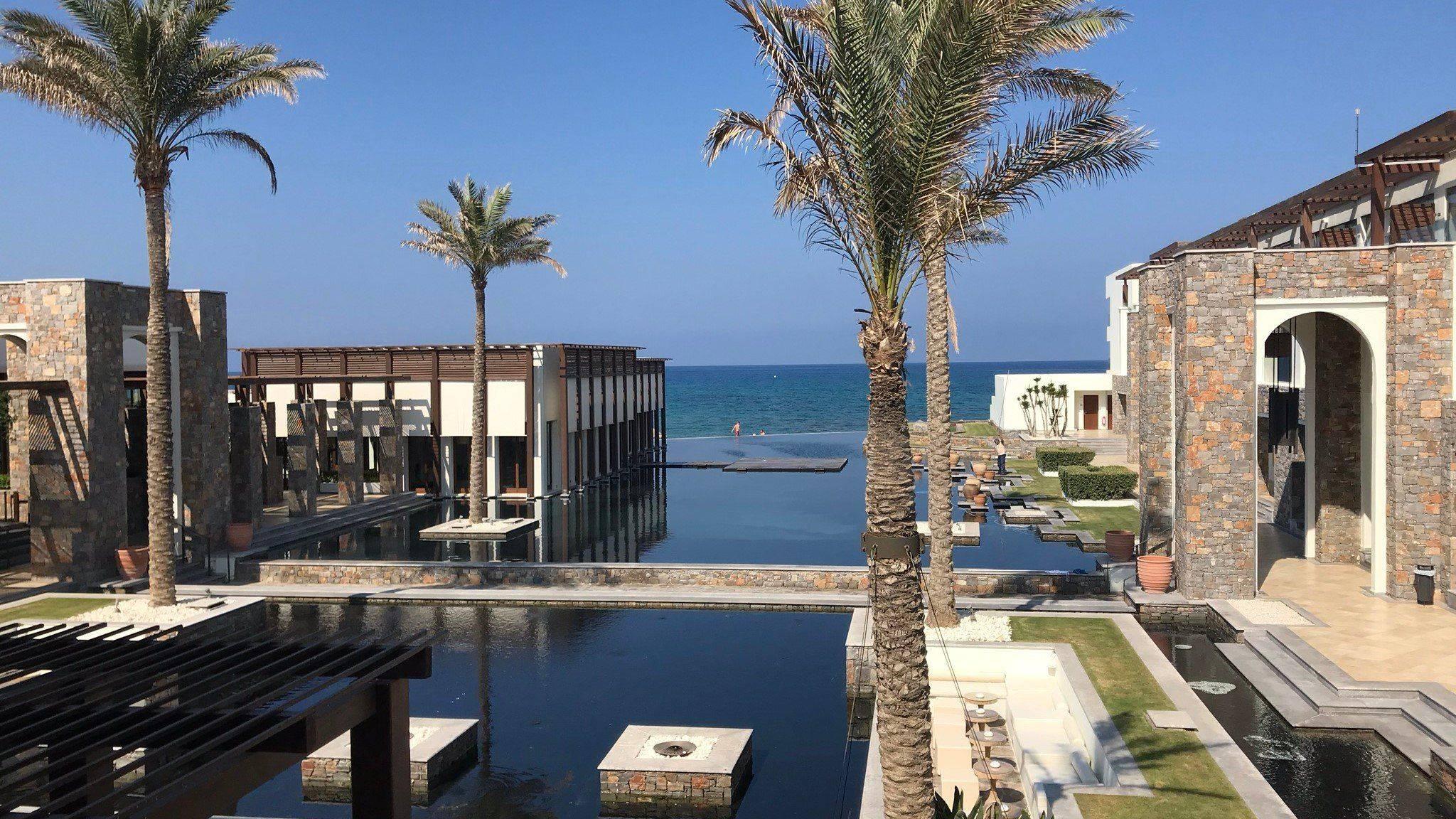 Amirandes Kreta Blick auf Hotel