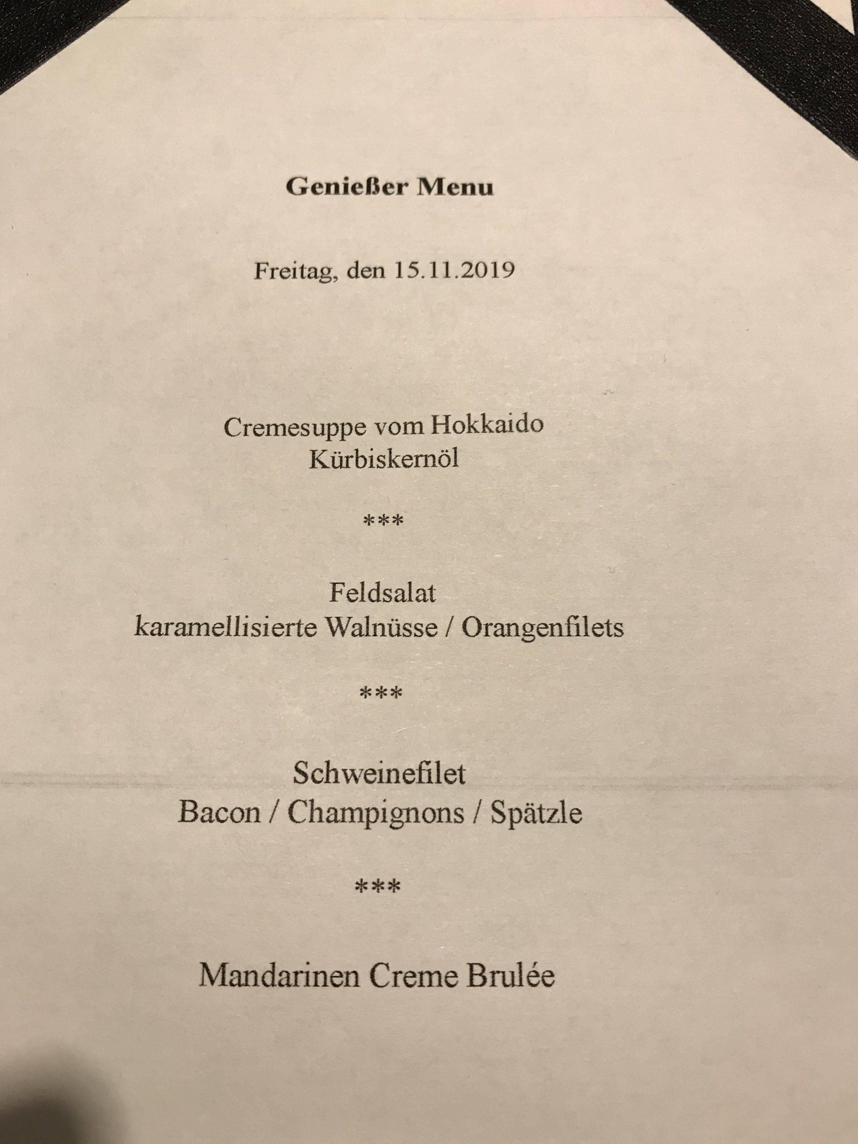 Kirnbacher Hof Salat zum Menue Freitag