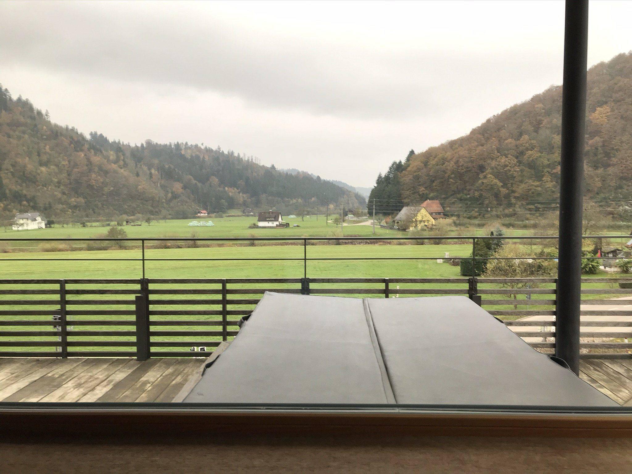 Familienurlaub Schwarzwald Kirnbacher Hof Aussicht SPA Bereich in Kinzigtal