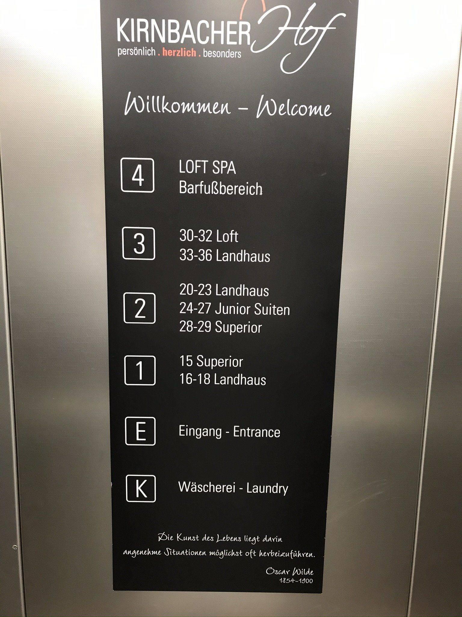 Kirnbacher Hof Etagen Übersicht