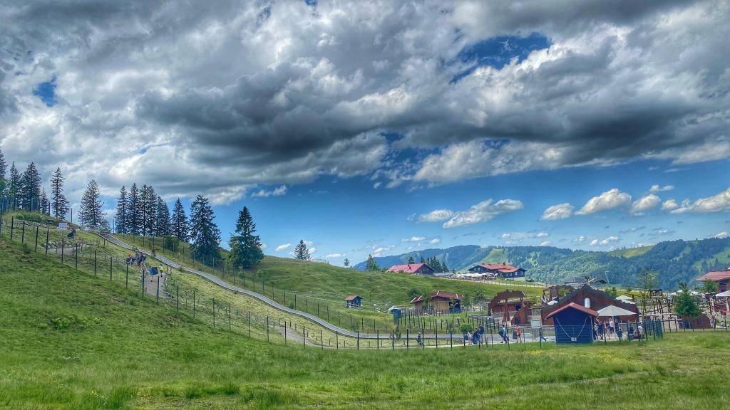 Alpsee Bergwelt Teppich Rutsche