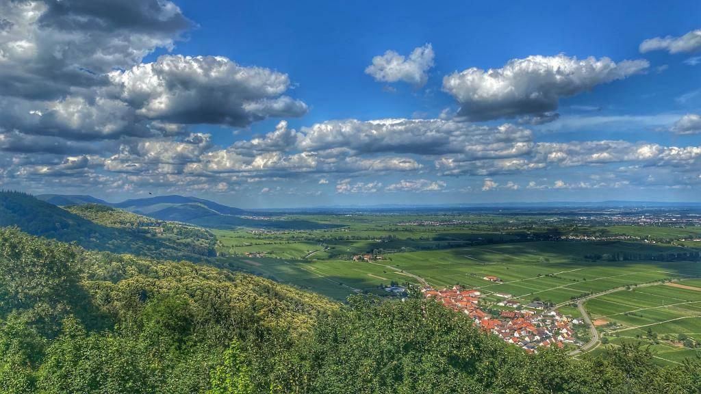 Burg Madenburg Blick Rheinebene