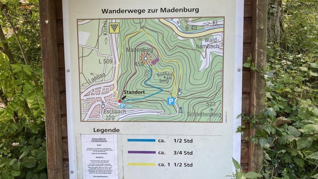 Burg Madenburg Wanderwege