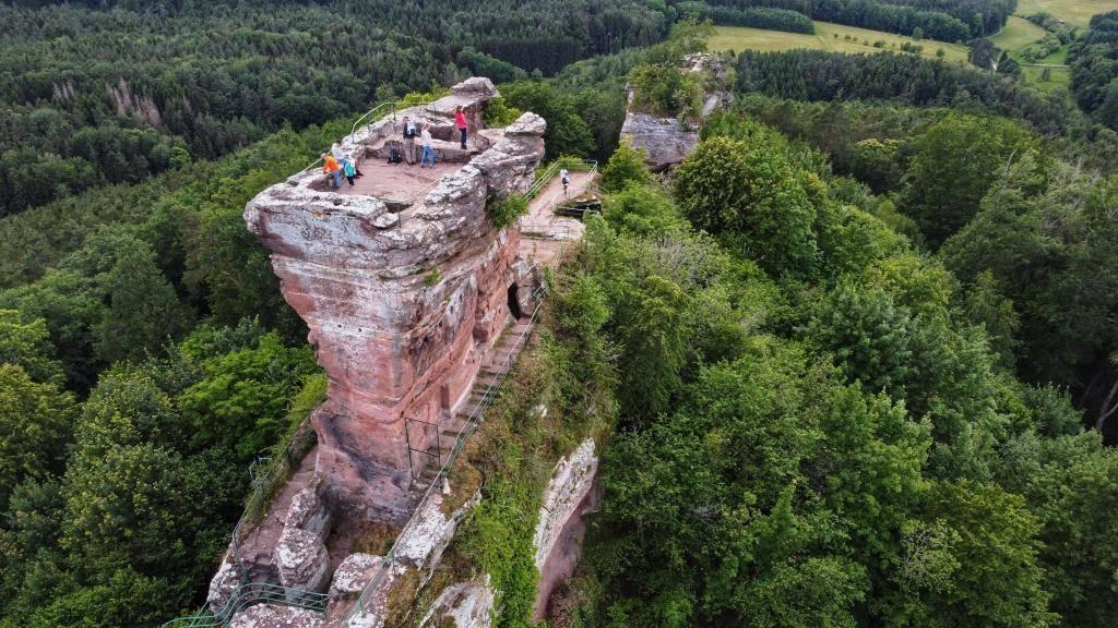 Burgruine Drachenfels Panorama
