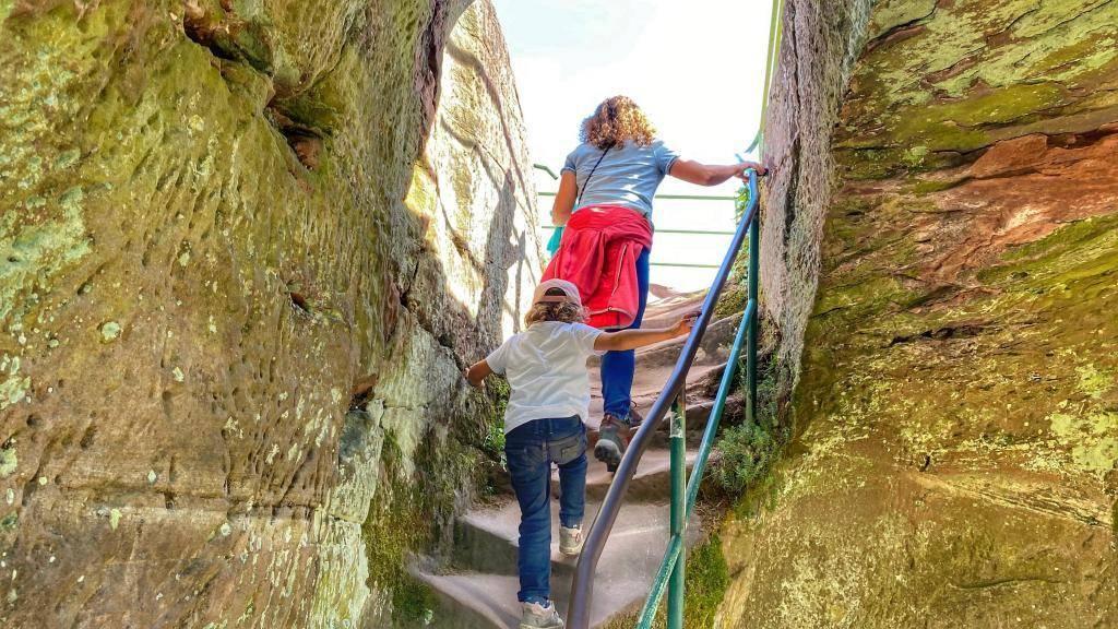 Burgruine Drachenfels Aufstieg