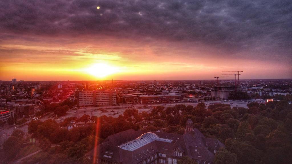 Hamburg Sonnenuntergang