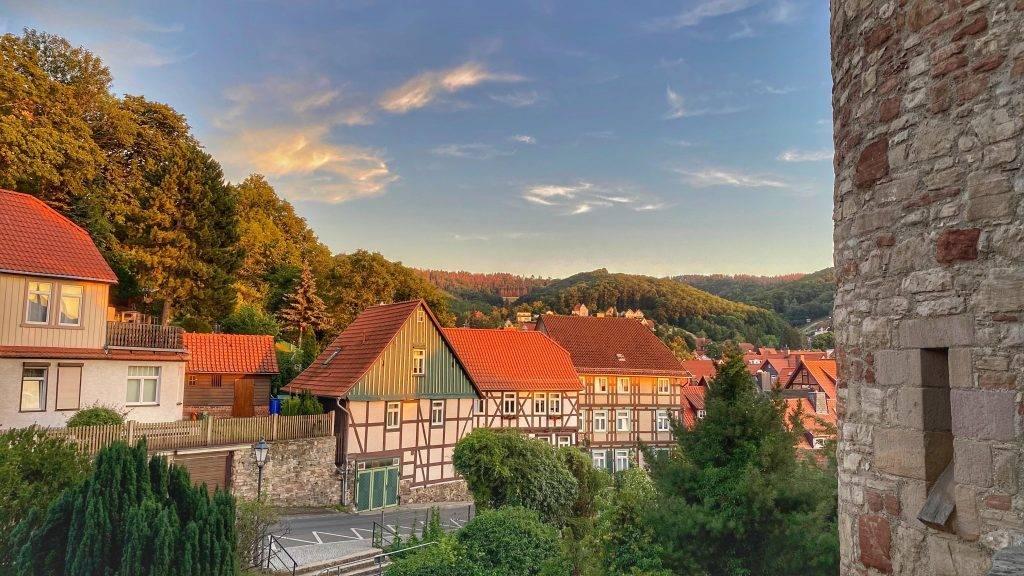 Sonnenuntergang in der Nähe vom Schloss Wernigerode
