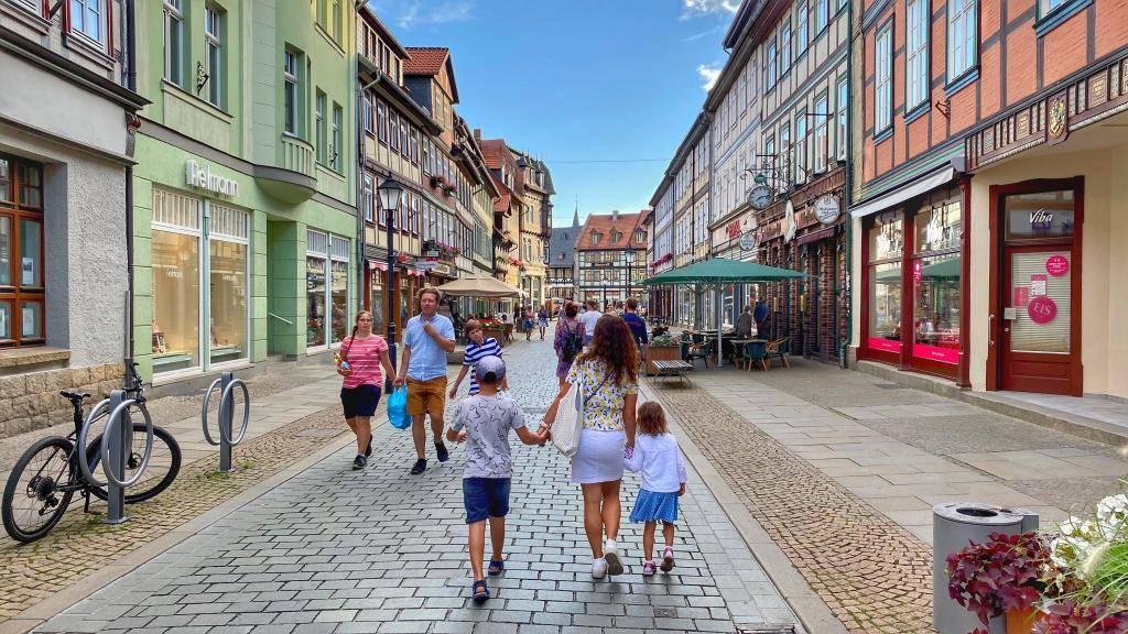 Innenstadt Wernigerode in Sachsen-Anhalt