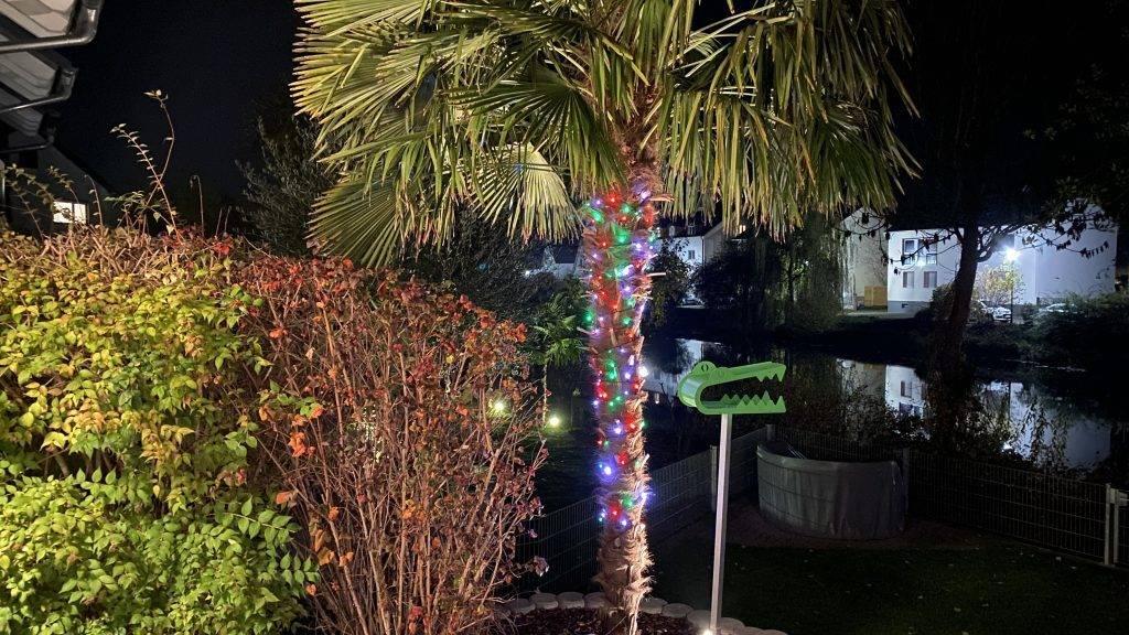 Weihnachten Lichterketten außen