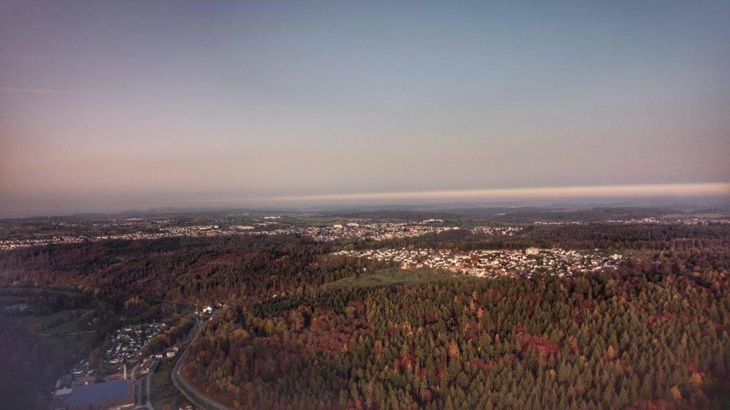 Rheinebene Drohne Schwarzwald