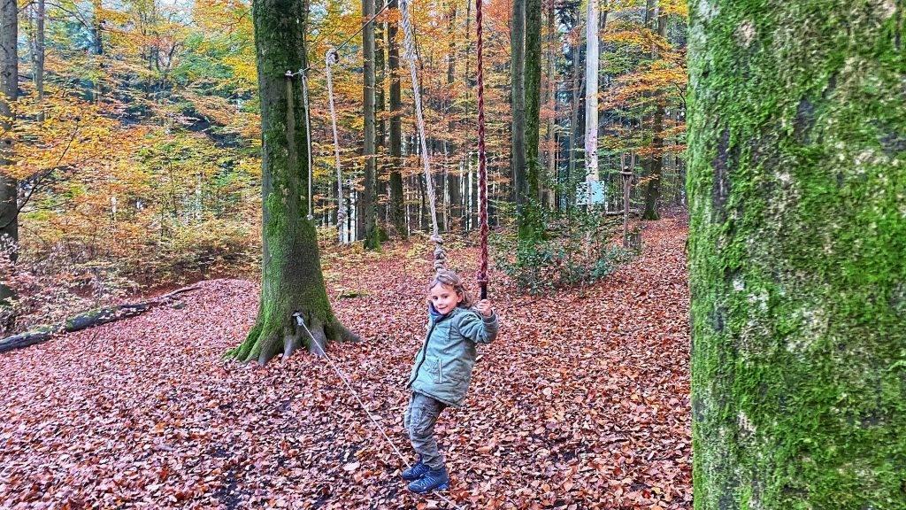 Slackline Wald