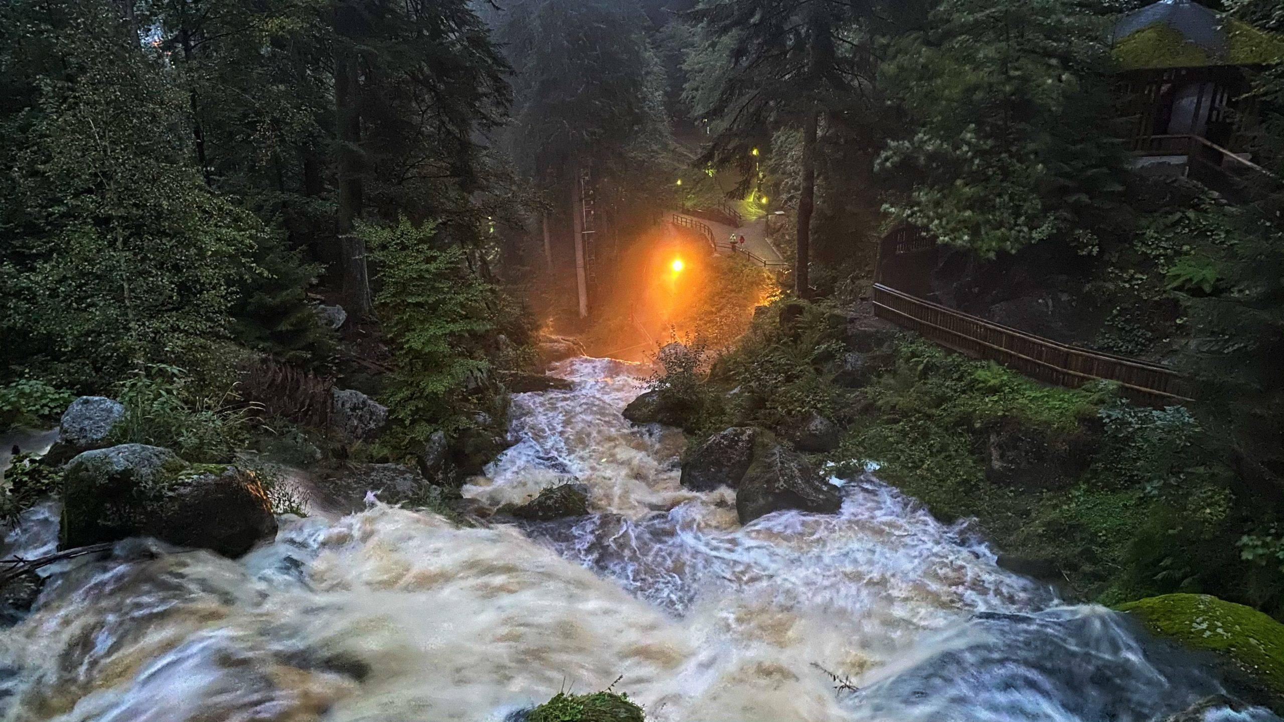 Triberger Wasserfälle Dämmerung