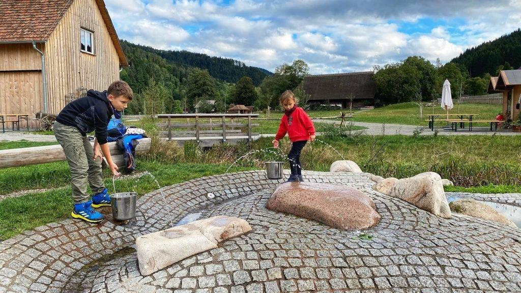 Wasser Spielplatz Vogtsbauernhof